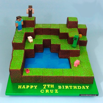 Bolo Minecraft via http://www.cakerush.co.uk