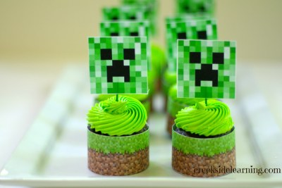 Cupcake Minecraft via http://creeksidelearning.com