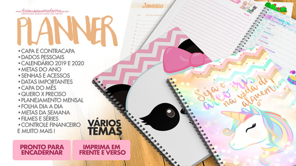 Planner 2019 para Imprimir Gratis Personalizado