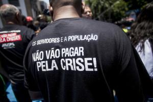 Protesto unificado de servidores no centro do Rio. Foto: Mídia Ninja