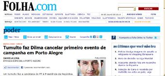 Folha inventa cancelamento de atividade de Dilma em Porto Alegre