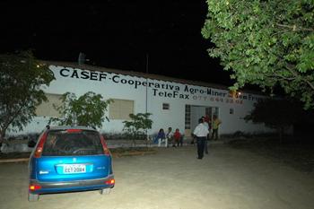 Entrada da cooperativa, na ocasião ocorreu a assembleia de inauguração do Instituto Zequinha Barreto em Brotas de Macaúbas. Foto: Valdemi Silva - PT/Osasco.