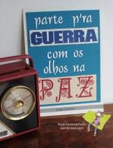 """Sérgio Godinho """"Olhos na paz"""" [Frase proposta por Inês Brandão] Original: papel, cartolina e cartão canelado, recortados e colados. A4."""