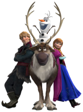 Kristoff-Anna-Olaf-Sven-sem-fundo-02 Personagens Frozen