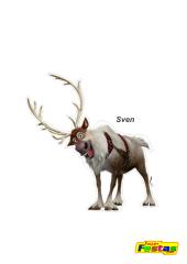 Sven-Frozen Personagens Frozen