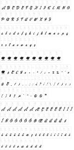 abc-dollie-script Font da Barbie