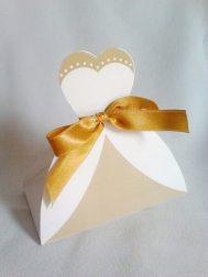 Lembrancinha-Vestido-caixa-para-festa-noiva-08 Moldes de Caixinhas Vestido - Princesas, Fadas, Noivas e Debutantes