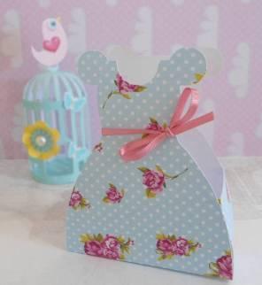 Lembrancinha-Vestido-caixa-para-festa-princesa-06 Moldes de Caixinhas Vestido - Princesas, Fadas, Noivas e Debutantes