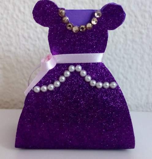 Lembrancinha-Vestido-caixa-para-festa-princesa-09 Moldes de Caixinhas Vestido - Princesas, Fadas, Noivas e Debutantes