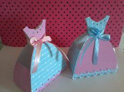 Lembrancinha-Vestido-simples-caixa-para-festa-11 Moldes de Caixinhas Vestido - Princesas, Fadas, Noivas e Debutantes