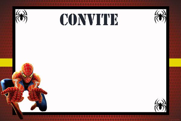 Convite1 Homem Aranha Festa infantil