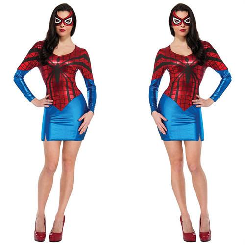 Halloween-Spidergirl-Costume-Spider-font-b-Women-b-font-Sexy-font-b-Superhero-b-font-Cosplay Homem Aranha Festa infantil