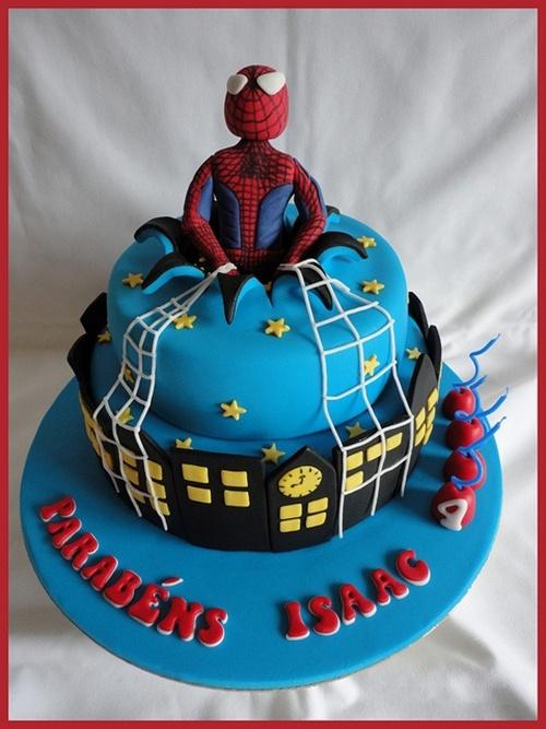 bolo-1 Homem Aranha Festa infantil