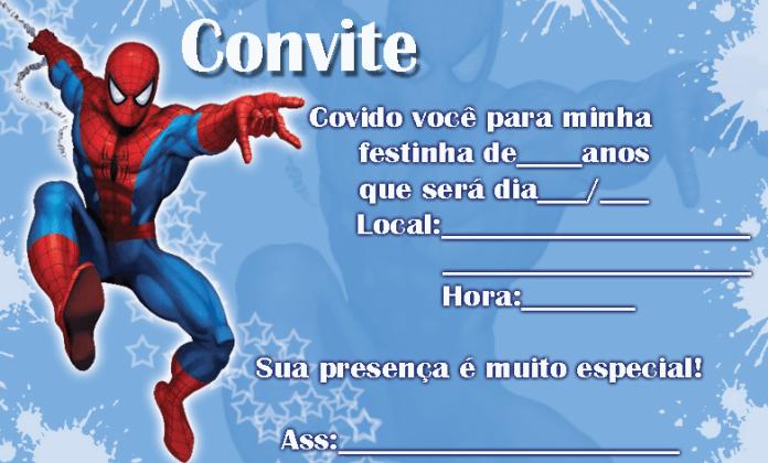 convite-Homem-Aranha-7 Homem Aranha Festa infantil