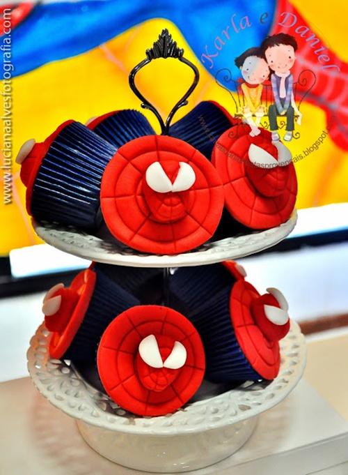 cup-cakes-1 Homem Aranha Festa infantil