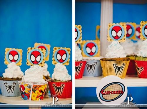 cupcakes-2 Homem Aranha Festa infantil