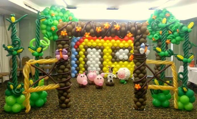 Balões-tema-festa-fazendinha-01 Idéias para festa Infantil com tema Fazendinha para meninos e meninas