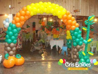 Balões-tema-festa-fazendinha-14 Idéias para festa Infantil com tema Fazendinha para meninos e meninas