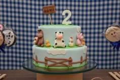 Bolo-festa-infantil-fazendinha-08 Idéias para festa Infantil com tema Fazendinha para meninos e meninas