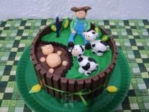 Bolo-festa-infantil-fazendinha-14 Idéias para festa Infantil com tema Fazendinha para meninos e meninas