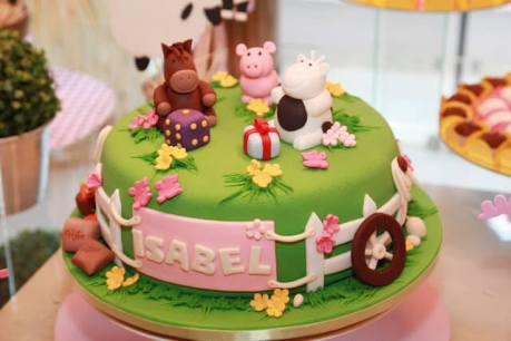 Bolo-festa-infantil-fazendinha-menina-06 Idéias para festa Infantil com tema Fazendinha para meninos e meninas
