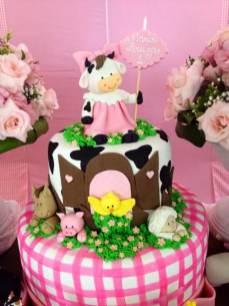 Bolo-festa-infantil-fazendinha-menina-08 Idéias para festa Infantil com tema Fazendinha para meninos e meninas