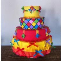 Bolo-festa-infantil-são-joão-03 Idéias para festa Infantil com tema Fazendinha para meninos e meninas