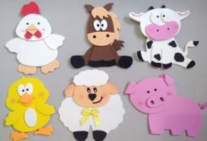 Lembrancinha-aniversário-fazendinha-bichinhos-eva Idéias para festa Infantil com tema Fazendinha para meninos e meninas