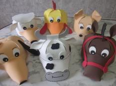 Lembrancinha-aniversário-fazendinha-chapeu-eva-bichinhos Idéias para festa Infantil com tema Fazendinha para meninos e meninas