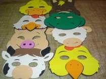 Lembrancinha-aniversário-fazendinha-mascara-em-eva-lembrancinha Idéias para festa Infantil com tema Fazendinha para meninos e meninas