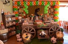 aniversário-infantil-decoração-tema-festa-Country-01 Idéias para festa Infantil com tema Fazendinha para meninos e meninas