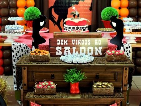 aniversário-infantil-decoração-tema-festa-Country-02 Idéias para festa Infantil com tema Fazendinha para meninos e meninas
