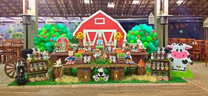 aniverssário-infantil-decoração-tema-festa-fazendinha-12 Idéias para festa Infantil com tema Fazendinha para meninos e meninas