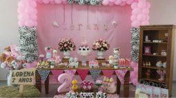 aniverssário-infantil-decoração-tema-festa-fazendinha-menina-02 Idéias para festa Infantil com tema Fazendinha para meninos e meninas