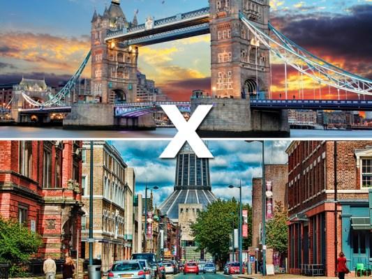 Inglaterra: Londres x Liverpool
