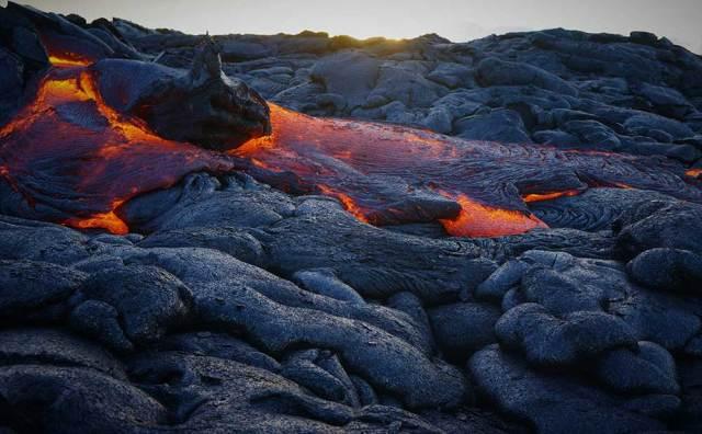vulcão do parque nacional do Hawaii