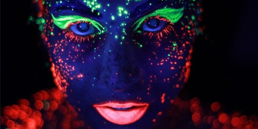 Image result for glow in the dark makeup