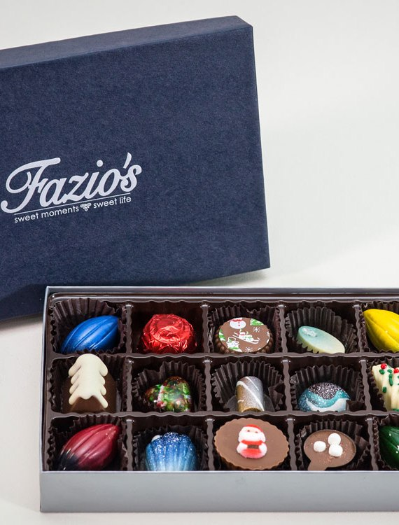 15 Piece Artisan Holiday box of chocolate