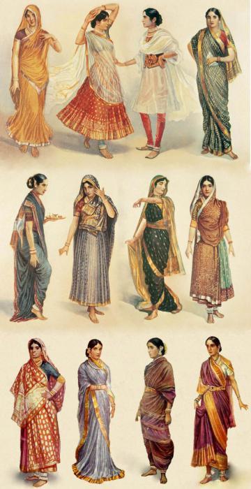 Indisches Sari Foto.