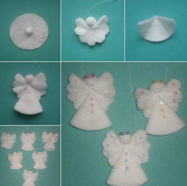 Sneeuwvlok uit katoenen spons