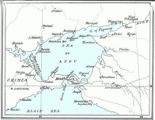 sea ​​of ​​azov on the map of russia