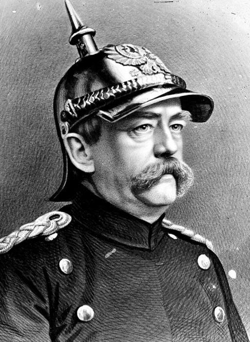 Prince Otto background Bismarck sa militar unifeds at Prussian helmet, 1871. (wikimedia.org)