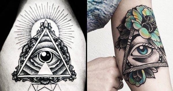 Пирамида с глазом: значение тату, варианты исполнения, эскизы