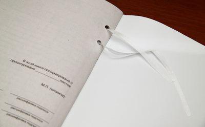 Прошито пронумеровано и скреплено печатью:скачать образец в Word