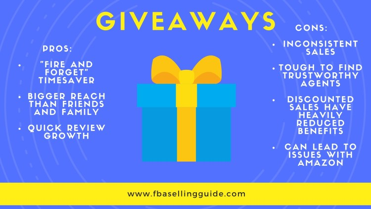 amazon product giveaway campaigns for organic ranking