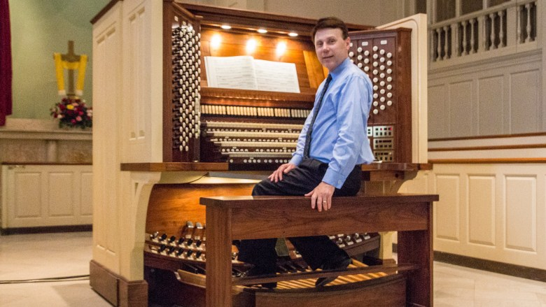 WIlliam Ness at the Organ