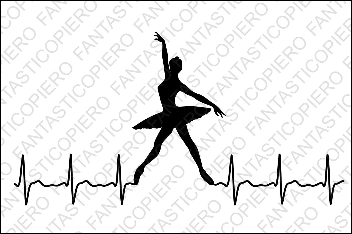 Cardio Modern Dancers Svg Files For Silhouette Cameo And