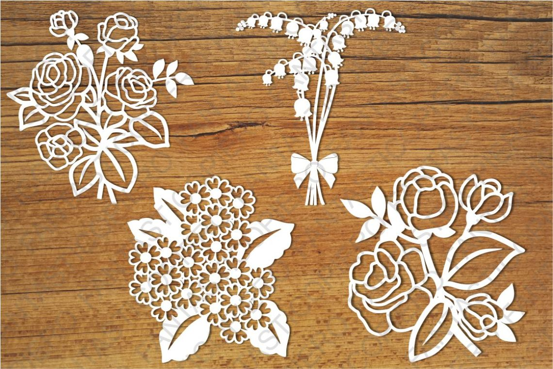Download Flowers 2 SVG files for Silhouette Cameo and Cricut.