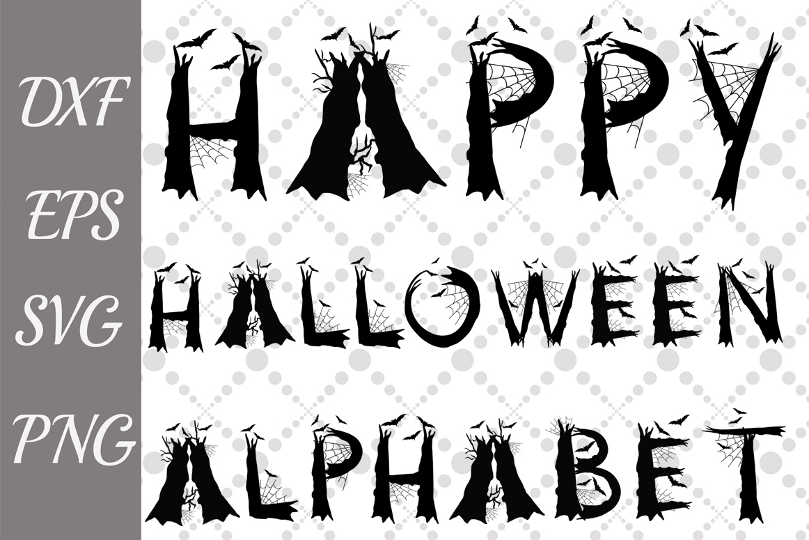 Halloween Alphabet Svg Scary Letters Svg Halloween Letters