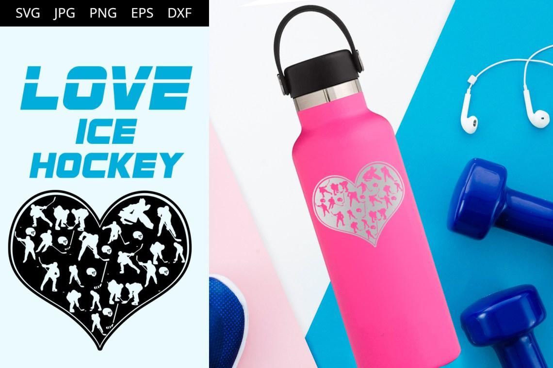 Download Love Ice Hockey SVG Vector